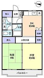 カーサ八千代[1階]の間取り