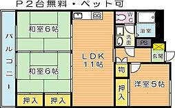グレイスコート篠崎[3階]の間取り