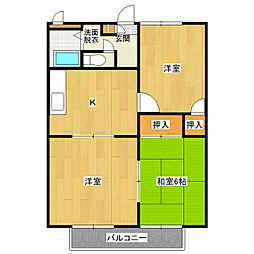 カジュアルプラザA棟[3階]の間取り