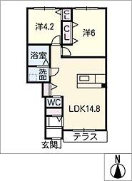 仮)大治町長牧新築アパート[1階]の間取り