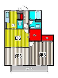 ファミールハイツ[2階]の間取り