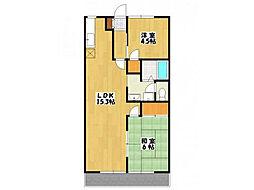 リバティハウスA棟[1階]の間取り