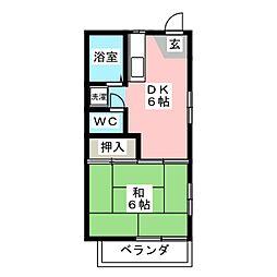 ピュア平尾[2階]の間取り