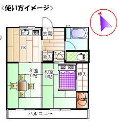 ハイツ大竹[1階]の間取り
