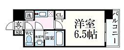 JR東海道・山陽本線 元町駅 徒歩3分の賃貸マンション 8階1Kの間取り