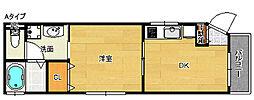 メゾンドOSAKA[2階]の間取り