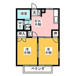 ファミール21B[2階]の間取り