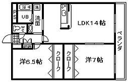 south23 3階2LDKの間取り