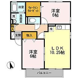 コンフォールM-II[1階]の間取り