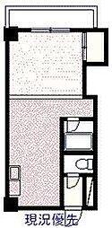サンライズコスモ 2階ワンルームの間取り