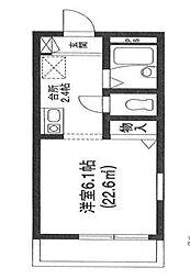 コンフォート津田沼[1階]の間取り