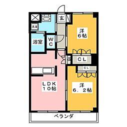 メープルメゾン[2階]の間取り