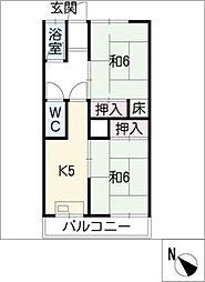 坂野ビル[2階]の間取り