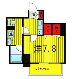 プレール・ドゥーク浅草橋[602号室]の間取り