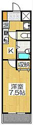 第一大宮ハイツ[3階]の間取り