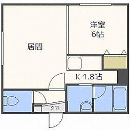 ベルエット二十四軒[3階]の間取り