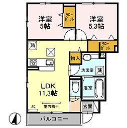 (仮)D‐room桜区南元宿2丁目 I[101号室]の間取り