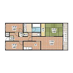 緑の家[3階]の間取り