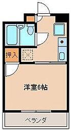 タイセイコーポラス[2階]の間取り