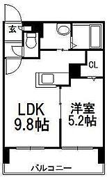 北海道札幌市中央区南六条西26丁目の賃貸マンションの間取り