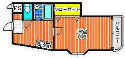 バードヒル鳳[506号室]の間取り