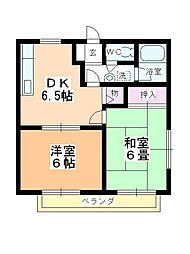 ベルメゾンITO B棟[1階]の間取り