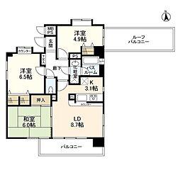 東京都西東京市保谷町4丁目の賃貸マンションの間取り