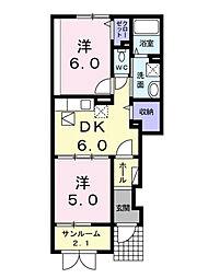 シーブリーズ B[1階]の間取り