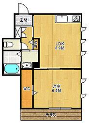 JW六番町[2階]の間取り