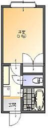 サンライズII[2階]の間取り