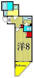 東京メトロ日比谷線 三ノ輪駅 徒歩12分の賃貸マンション 4階1Kの間取り