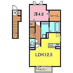 D-room西別所町[206号室]の間取り