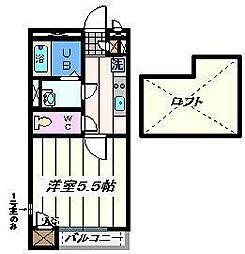 東京都葛飾区四つ木3丁目の賃貸マンションの間取り