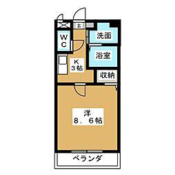 アビタシオン八事[2階]の間取り