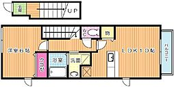 ベルムーンA棟[2階]の間取り