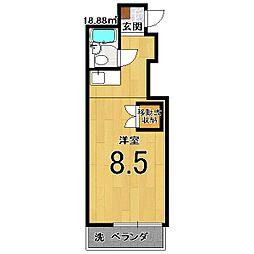 スクリーン28[402号室]の間取り