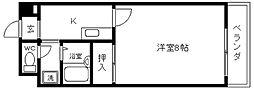 大阪府八尾市本町6丁目の賃貸マンションの間取り