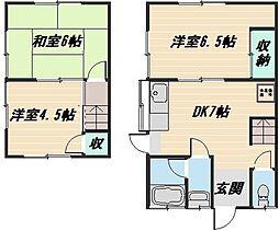 [タウンハウス] 広島県広島市安佐南区西原6丁目 の賃貸【/】の間取り