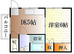神奈川県横須賀市大津町3丁目の賃貸アパートの間取り