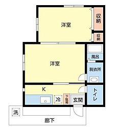 上福岡ハウス[201号室]の間取り