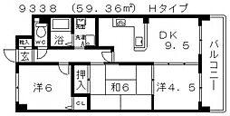 NOVA藤井寺(ノバ藤井寺)[708号室号室]の間取り