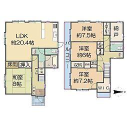 [一戸建] 兵庫県西宮市松籟荘9丁目 の賃貸【/】の間取り