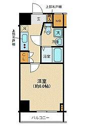 JR京浜東北・根岸線 新子安駅 徒歩8分の賃貸マンション 9階1Kの間取り