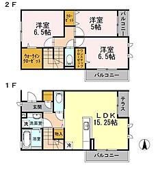 [テラスハウス] 神奈川県横浜市港北区日吉本町6丁目 の賃貸【/】の間取り
