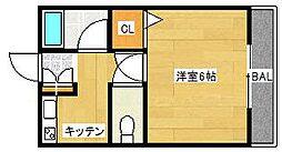 メゾネート筒井[104号室]の間取り