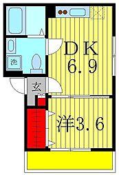 AJ新松戸2[3階]の間取り