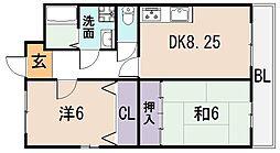ニシシンヴィレッジA棟[2階]の間取り