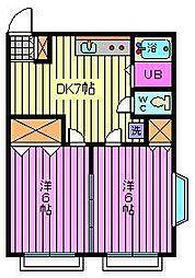エスポワール常盤[1階]の間取り