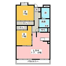 MIKAZUKI GARDEN[3階]の間取り
