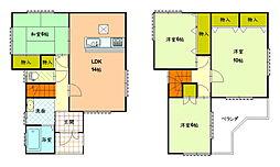 京田辺市薪名松中古一戸建住宅 4LDKの間取り